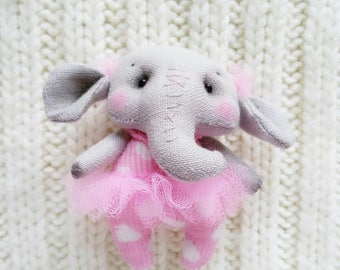 Textile Brooch Little Elephant girl