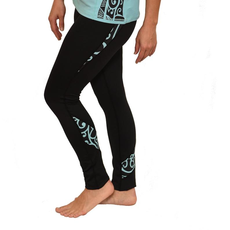59325fabbb Ori Active Koru Long Yoga Pants Maori Tattoo Design   Etsy