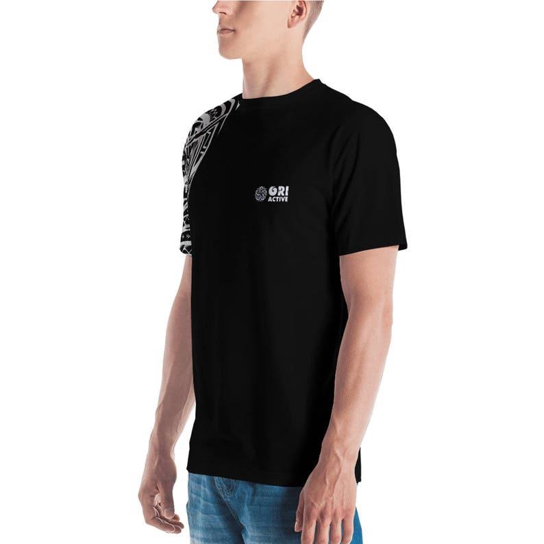 2f3aeb40cd6d Ori Active Men's Samoan Tattoo Print Polyester T-Shirt   Etsy