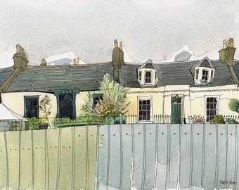 Bath St Lane, Portobello signed limited edition giclee print