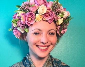 Pastel Berries Light-Up Flower Crown