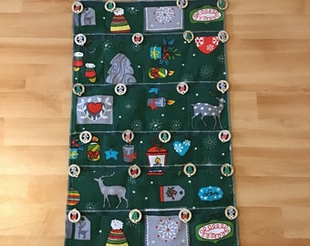 Advent Calendar for Filling - Fabric Advent Calendar - Door / Wall Advent Calendar - Christmas Decoration
