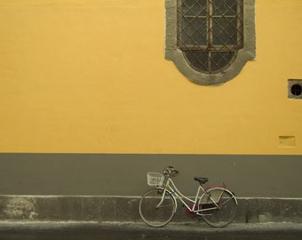 Bicycle, Lucca Italy, Fine Art Print, Wall Decor, Limited Edition, Tuscany, Travel Photography, Landscape, European City