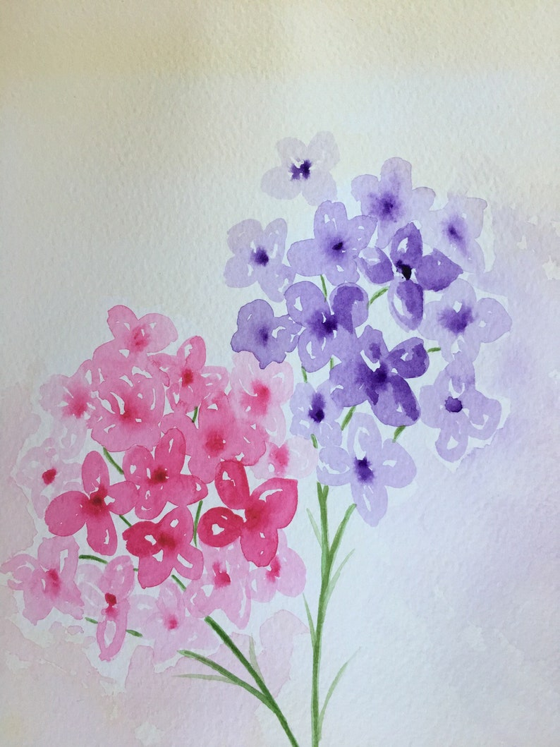 Flower watercolour painting