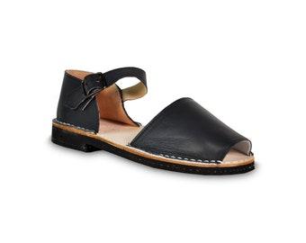 218056110c8adf avarca sandals - navy blue - leather sandals