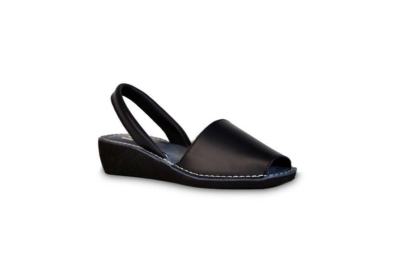 5241a33a37 Avarca wedge sandals navy leather sandals avarcas