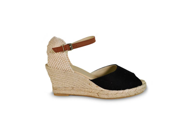 3ae15814bb4 Wedge sandals black wedges espadrilles wedge
