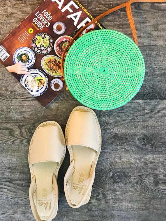 95c9b3267f avarca wedge sandals beige leather sandals avarcas