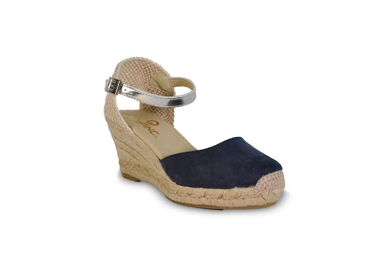 2f4a0ebac6d Wedge sandals blue wedges suede espadrilles wedges