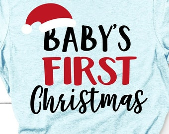 8cdbfbc982207 Baby's First Christmas Svg, Baby Bump Svg, Christmas Pregnancy Announcement  Svg, Santa Baby, Maternity Mom Shirt Svg Files for Cricut, Png