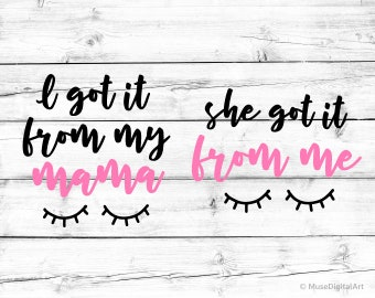 Mom And Daughter Svg Etsy