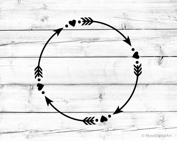 circle arrow svg arrows with hearts svg tribal arrow circle etsy circle arrow svg arrows with hearts svg tribal arrow circle svg boho arrow monogram frame svg file for cricut png clipart silhouette