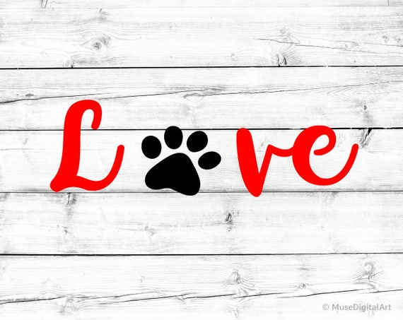 Download Love with Paw Print Svg Fur Mom Svg Dog Paw Print Dog Love ...