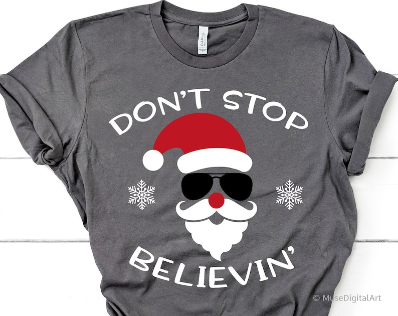 92b07907 Dont Stop Believin Svg Believe Svg Christmas Svg Santa | Etsy