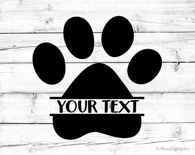Download Paw Print Svg Paw Monogram Svg Dog Paw Svg Cat Paw Svg Paw ...