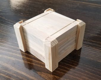 Solid wood coasters with holder