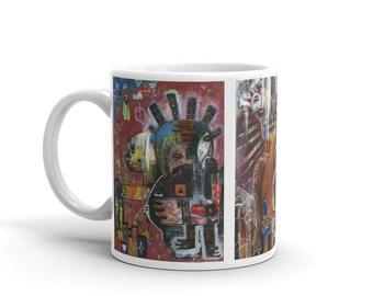 The UglyMugPaintings Mug. Original outsider art. Art mug.