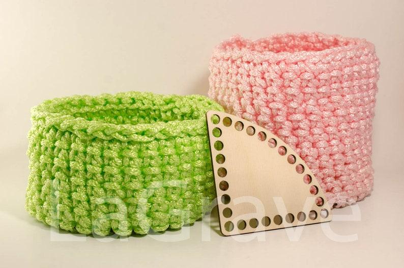 Crochet basket bottom Wood base Corner Rounded 20cm7.87in Wooden bottoms for crochet basket Wooden bottom Crochet basket base.