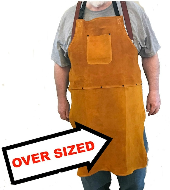 An Oversized Leather Shop Apron Etsy