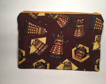 Dr Who Dalek Brown Zipper Pouch