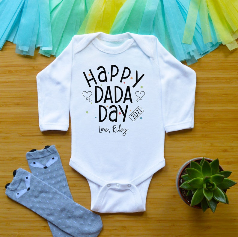 1st Father/'s Day Fathers Day Baby Outfit Father/'s Day Toddler Baby Clothes Happy Dada Day Dad Kids Shirt First Fathers Day Baby Bodysuit
