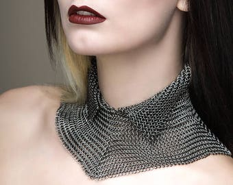 High Neck Chainmaille Collar
