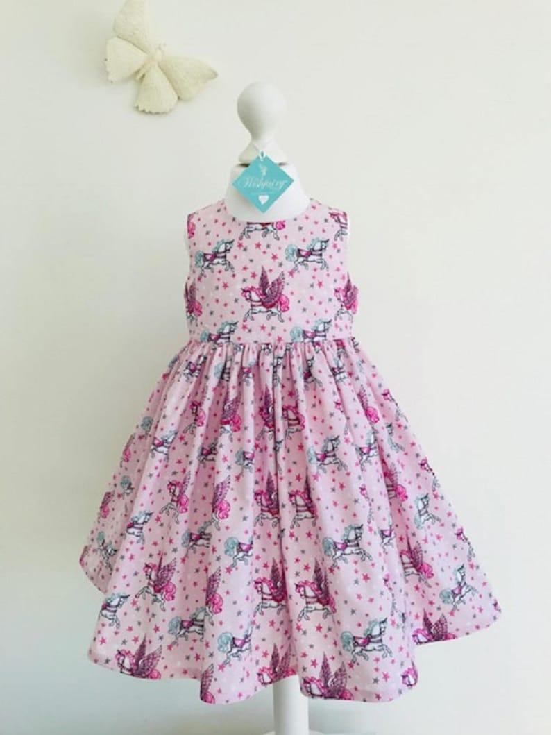 dd006670ab659 Eve Unicorns on Pink dresses girls dresses party dresses | Etsy