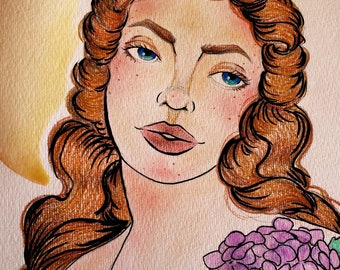 Lady Hydrangea *print*