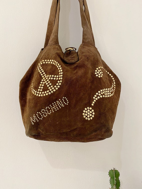 Moschino by Redwall 90's Suede Bag
