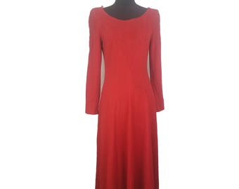 Womens' Size 10 Vintage Classy Red Marie St. Claire Dress