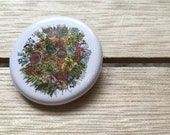 Cut FLOWERS bouquet - 32mm button badge- by Catherine Redgate