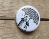 Umbrella Bear - 32mm button badge- by Catherine Redgate