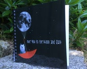 Love you to the moon and Back - MOON BEAR spiral-bound square notebook - plain inside- by Catherine Redgate