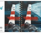 OceanFlight spiral-bound square notebook - plain inside- by Catherine Redgate