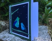 Night Birds - spiral-bound square notebook - plain inside- by Catherine Redgate