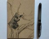 Reaching High BEAR A6 ECO Jotter Artist Sketchpad - plain inside- by Catherine Redgate