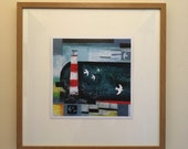 Harbour Light ART PRINT - two square sizes- by Catherine Redgate