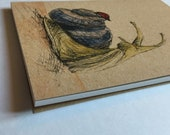New Friends - Snail Ladybug - A6 ECO Jotter Artist Sketchpad - plain inside- by Catherine Redgate