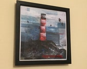 Lighthouse Rock ART PRINT - two square sizes- by Catherine Redgate