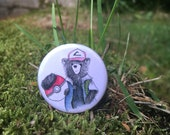 Poke-Bear dress up - 32mm button badge - Pokemon - Scottish catch em all- by Catherine Redgate
