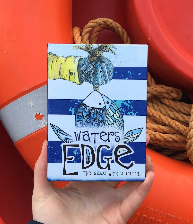 WATERS EDGE the game with a catch Illustrated card game image 0
