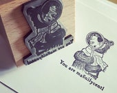 """SHERLOCK HOLMES bear - wooden rubber stamper - 2"""" Catherine Redgate motivational magnify magnificent stamping scrapbooking"""
