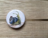 Snail & Ladybug NEW FRIENDS - 32mm button badge- by Catherine Redgate