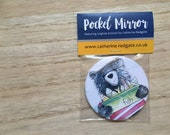 Bear & Fish POCKET MIRROR- by Catherine Redgate