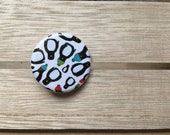 Penguin Parade - 32mm button badge- by Catherine Redgate