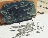 "Scottie DOG - 2"" wooden rubber stamper- by Catherine Redgate - Scotland - puppy - windy - pup -"