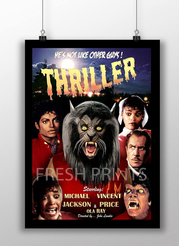 346417 Michael Jackson/'s Thriller movie GLOSSY POSTER FR