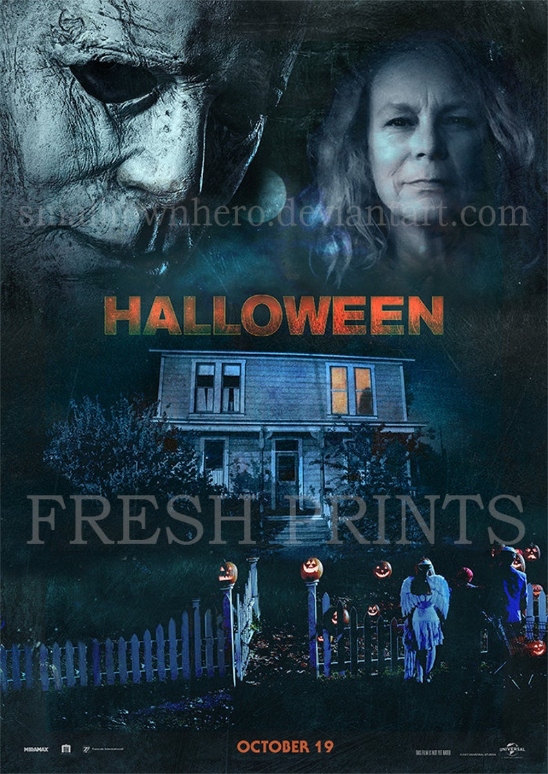 Halloween Movie Poster 2018.Halloween 2018 Poster Print