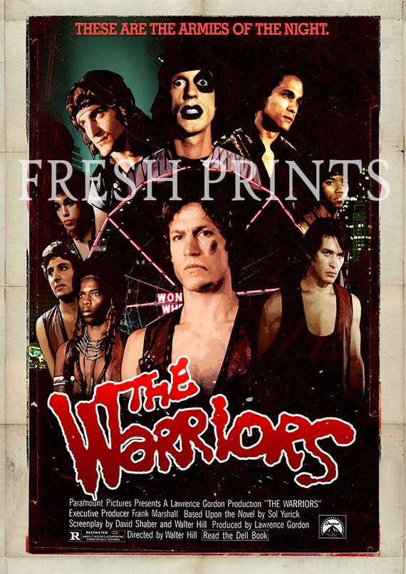 THE WARRIORS POSTER Retro Classic Movie Wall Art Print Photo Poster A4 A3