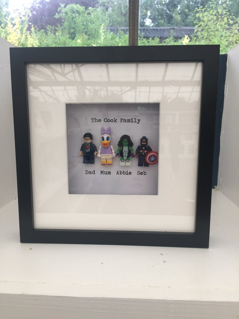 6be9f36b60a Lego family frame mini figures gift birthday Christmas